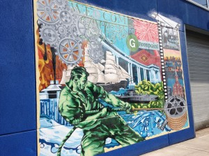 Stages of Greenpoint Mural