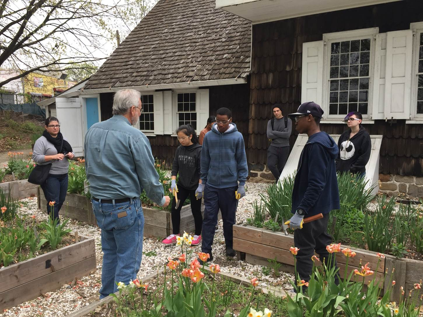 WHSAD Student Participate in Work Based Learning at Wyckoff House Museum