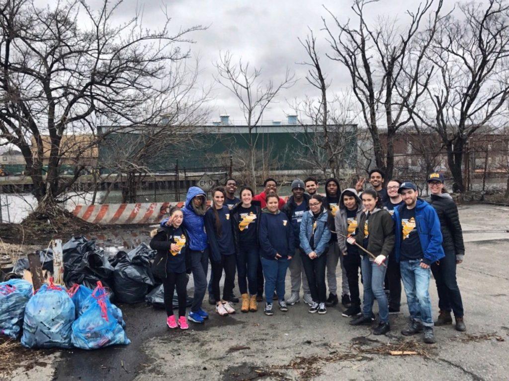WHSAD Seniors Clean Up Apollo Street with Newtown Creek Alliance