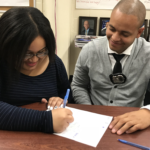 WHSAD Student Receives Mentoring from NYC Together Police Officer