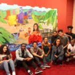 "WHSAD Students Participating in ""Once On This Island"" Mural Project"