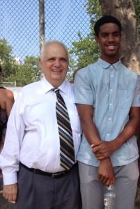 Assemblyman Joe Lentol and Senior Cameron Edge